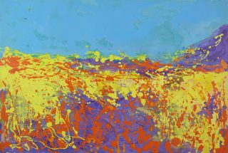 Sharon Withers Summer Heat II splatter painting for sale