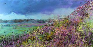 Sharon Withers Towards Tennyson Down landscape art for sale