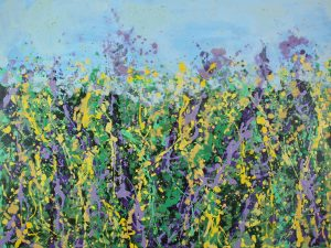 Sharon Withers Wild Garden II floral meadow painting