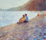 John Hammond A Quiet Moment romantic beach art for sale