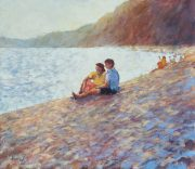 John Hammond A Quiet Moment romantic beach art for sale