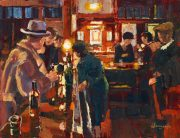 John Hammond Bar Talk jazz bar original artwork for sale