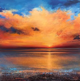 John Connolly Fire In The Sky sunset beach painting for sale