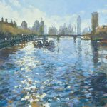 John Hammond London Haze thames painting for sale