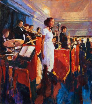 John Hammond Radiant original jazz bar painting for sale