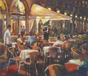 John Hammon Romance of Venice nightlife painting for sale