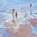John Hammond Seeking Treasures beach painting for sale