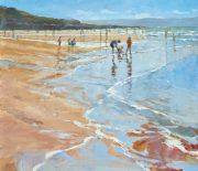 John Hammond Shining Sands family beach painting for sale