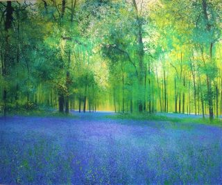 John Connolly Singing In The Blues bluebells artwork for sale