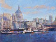 John Hammond Soft Light Across The Thames painting for sale