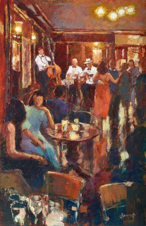John Hammond Table Talk nightlife painting for sale