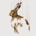Louise McNaught Divine Lunatic (unframed) Polar Hare Animal Art for sale