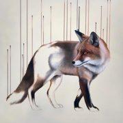 Louise McNaught Mercurial fox art print for sale