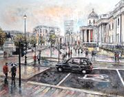 Alena Carvalho Trafalgar Square From St Martins Place painting for sale