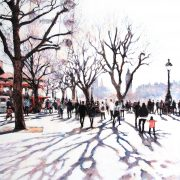 Alena Carvalho Winter Sun On The Southbank city art for sale