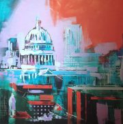 Richard Knight City Colour st paul's aluminium print for sale