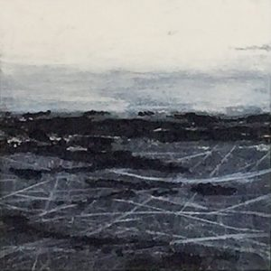 Carol Grant Study 4 stormy grey minimalist seascape for sale