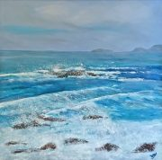 Frances Jordan Cornish Rollers II cornwall seascape painting for sale