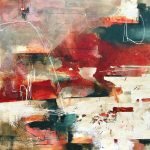 Kasia Clarke Gesture large abstract original painting for sale