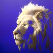 Louise McNaught King Of A Fading Kingdom lion art for sale