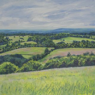 Grace Ellen Spring Across The North Downs painting