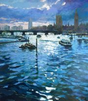 John Hammond Breaking Light Across The Thames art for sale