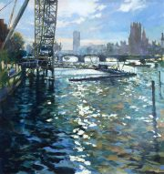John Hammond Festival Pier Southbank painting for sale