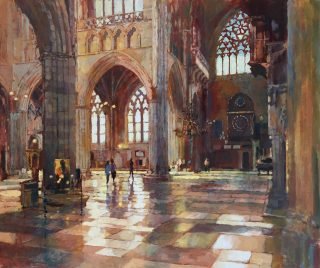 John Hammond Tracery Exeter Cathedral painting for sale