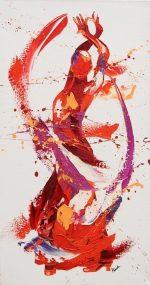 Penny Warden Del abstract dancer oil painting for sale