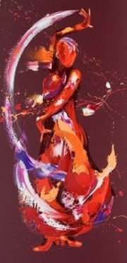Penny Warden Hula dynamic dance painting for sale
