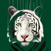 Louise McNaught Legend framed green tiger artwork for sale