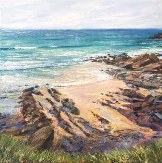 Grace Ellen Light Tops The Tide coastal sea painting for sale