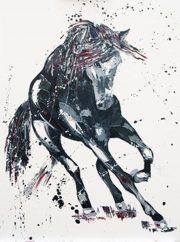 Penny Warden Significance modern equine painting for sale