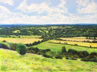 Grace Ellen Summer Days Surrey Hills landscape art for sale