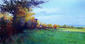 Richard Thorn Autumn Chiaroscuro watercolour art for sale