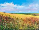 John Connolly Autumn Hedge In Berkshire painting for sale