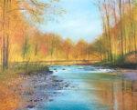 John Connolly Autumn Wey surrey landscape painting for sale