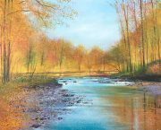 John Connolly Autumn Wey surrey landscape painting for sale