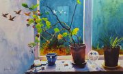 Richard Knight Autumn Window modern still life artwork for sale