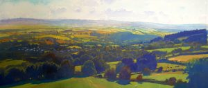 Richard Thorn Late Summer In The Vale panoramic art for sale