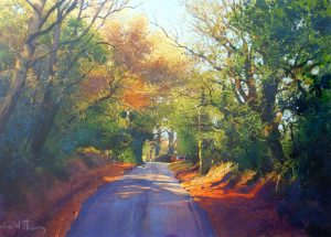Richard Thorn Logs For The Winter walk painting for sale