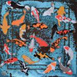 Paul Fearn Luminous Beings VI blue koi fish artwork for sale