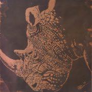 Paul Fearn Mud and Wrinkles original rhino artwork for sale