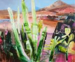 Celia Wilkinson Nature's Guard abstract desert painting for sale
