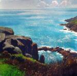 Richard Thorn Ocean Light Cornish Coast painting for sale