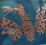 Paul Fearn Predator II blue underwater fish artwork for sale
