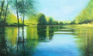 John Connolly Reflections On The Wey river painting for sale