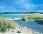 John Connolly Scilly Grasses cornish beach painting for sale
