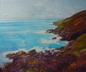 Richard Thorn The Lighthouse At Rosemodress painting for sale