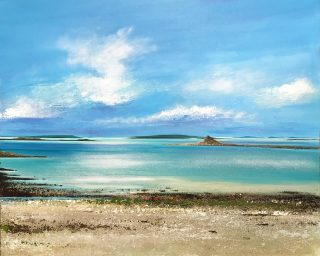 John Connolly To Samson cornish beach landscape painting for sale